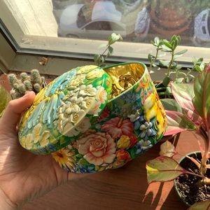 5$ ADD ON⭐️Vintage metal box pastel flowers